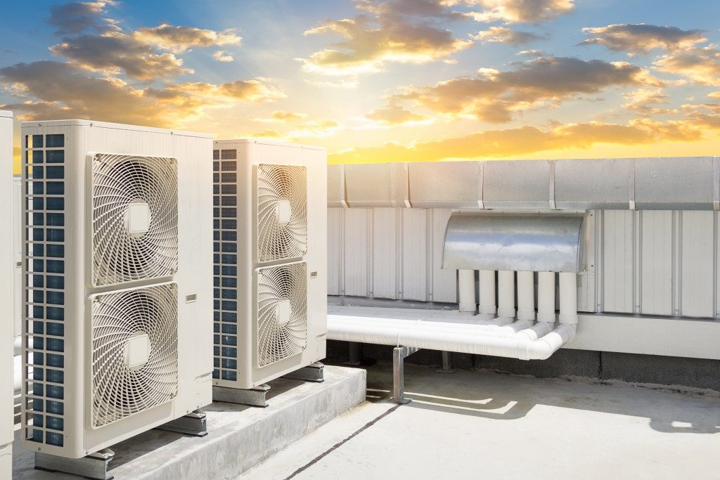 compressor systems on the rooftop