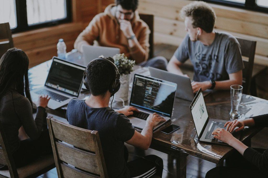 team members collaborating