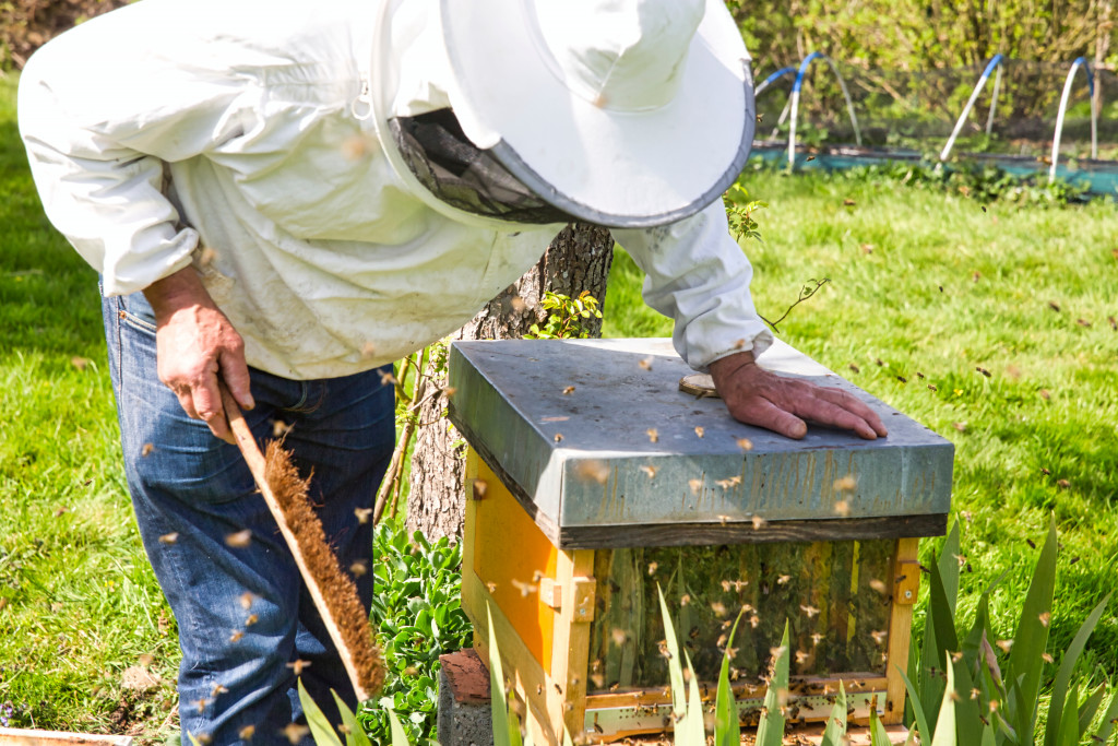 lifting beehive