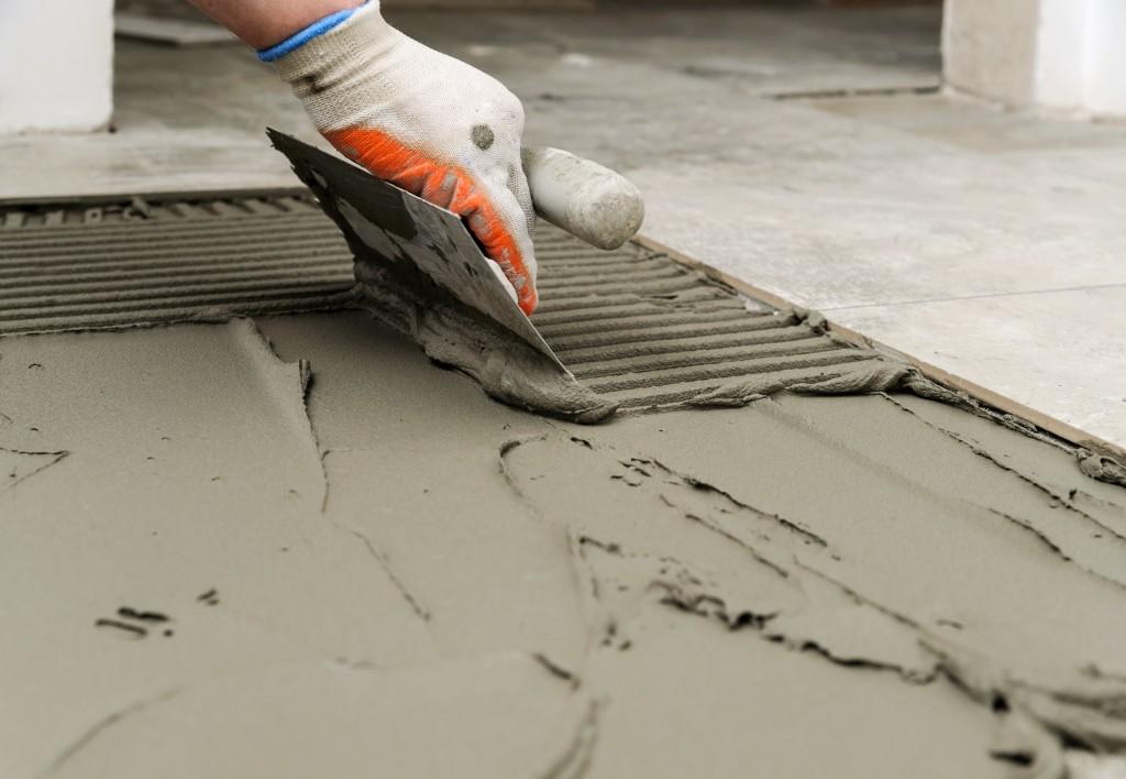 applying cement