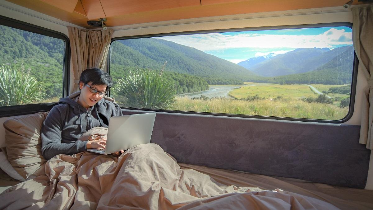 inside a RV camper